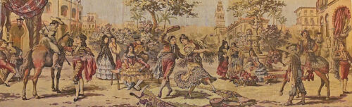 """Belgian Woven Tapestry Wall Hanging 18 ¾"""" x 57"""""""