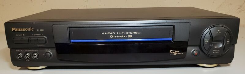 Panasonic PV-9661 Four Head Hi Fi Stereo VHS VCR Tested Working No Remote