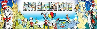 Dr. Seuss Peronalized Custom Name Poster Banner 8.5x30 - Birthday Gift