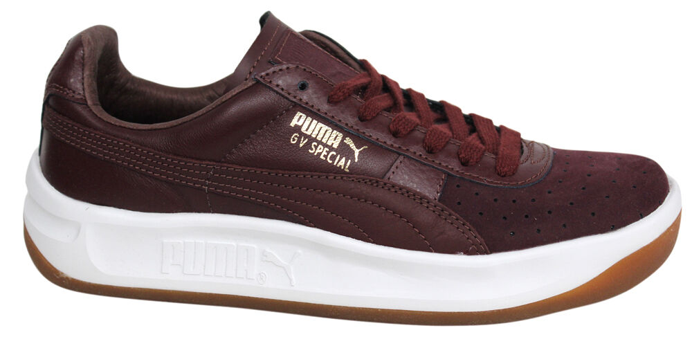 6747a16ee5e9be Details about Puma GV Special Exotic Burgundy Leather Mens Tennis Shoes  Trainers 357911 04 D46