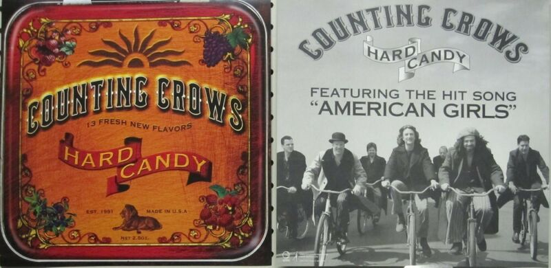 Counting Crows 2002 Hard Candy 2 Sided promo poster/flat Flawless New Old Stock