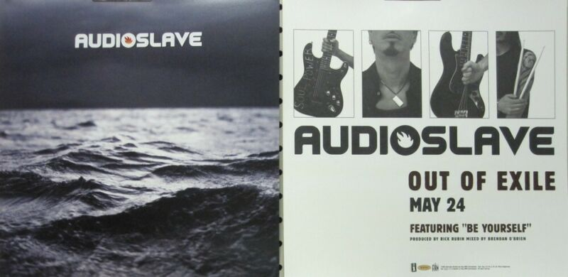 Audioslave 2006 Out Of Exile 2 Sided promo poster/flat Flawless New Old Stock