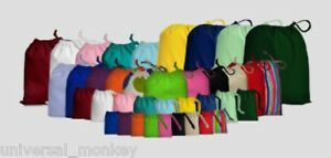 COTTON-DRAWSTRING-BAGS-VARIOUS-COLOURS-SIZES