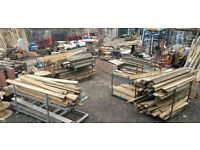RECLAIMED TIMBER DECKING BOARDS RAILWAY SLEEPERS PLANTERS SCAFFOLDING DRAGON BRIDGE RECALMATION