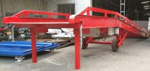 NEW METAL LOADING RAMP DOCK ELECTRIC HYDRAULIC LOADING DOCK MOBILE FORKLIFT RAMP 50,000 LBS CHECK OUT WEBSITE