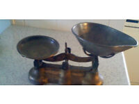 VINTAGE Weighing Scales. Rare B&H Bracey, Cardiff.