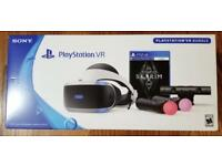 PSVR Skyrim Bundle + V2 Camera + Two Move controllers NEW