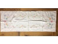 Linen Table Covers (some vintage) - hand embroidered items and some machine embroidered items