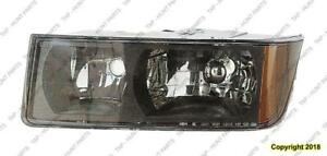 Head Lamp Driver Side With Cladding High Quality Chevrolet Avalanche 2002-2006