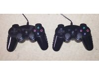 JOYPAD CONTROLLERS USB LIKE NEW BARELY USED X2 - GRAB A BARGAIN