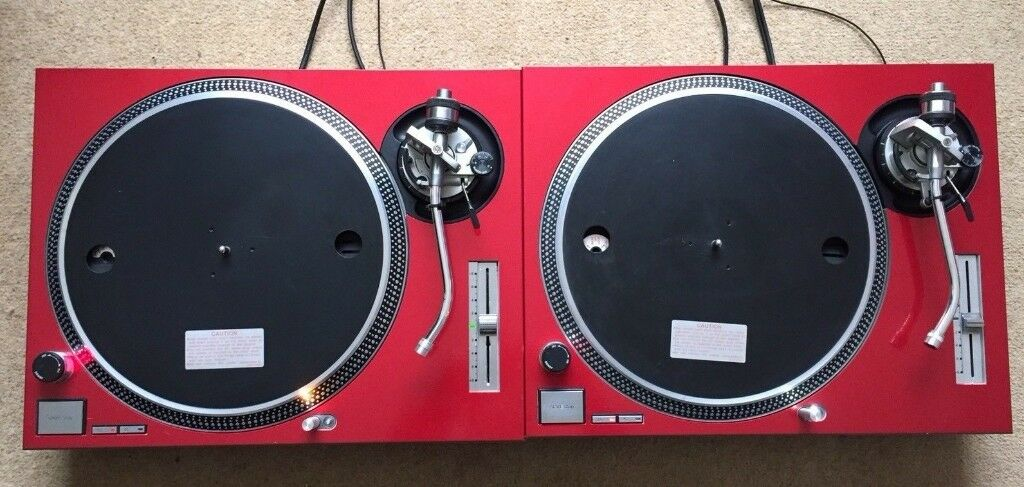 2 X Technics SL-1200 MK2 Turntables With Custom