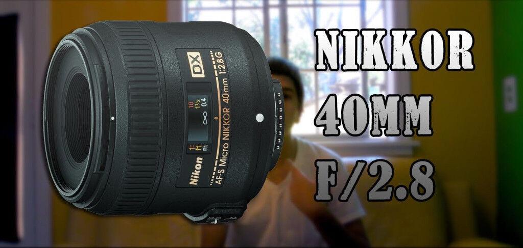 Nikon Nikkor 40mm f/2.8 DX G Lens Perfect Condition, Macro Retail £229