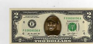 Tiger Woods Rookie Card and  $2. U.S.Bill