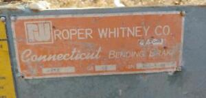 Roper Whitney 8 ft Manual Bending Brake, Model # 816