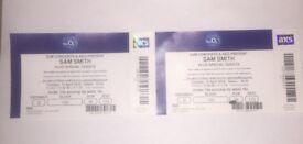 Sam Smith Tickets x2. Tues 10th April