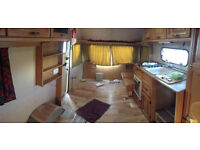 Cheap Caravan. Interior Mostly Removed.