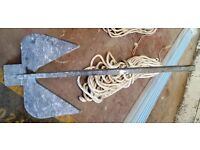 20kg Danforth folding anchor - good condition - sold yacht so no longer required