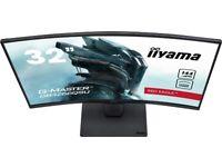 QHD 144Hz 32 inch Curved Gaming monitor 2560 x 1440 2K boxed Iiyama G-MASTER
