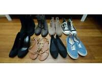 Shoes for woman. Size 38-39, 5-5.5. Boots. Loafers. Sandals. Sneakers. High heels.