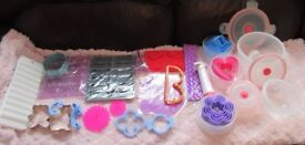 Cake decorating Bundle shaped cutters moulds stencil printers and bowls