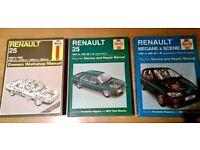 Renault Haynes manuals x3