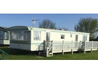 6 berth 2 bed 12 wide,caravan,ingoldmells,skegness,DOG FRIENDLY,fri-mon 6-9th april £160 quiet site