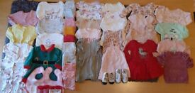 Beautiful Clothes for Baby Girl-6-9 months ,44items !☆☆