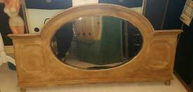 Large antique upcycled mirror