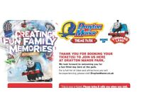 Single day tickets to Drayton Manor Park - 3 tickets (2 adults + 1 child)