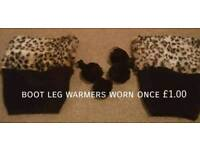 Boot leg warmers worn once