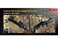 Klarus Flashlight St15 1100 Lumen Dual Switch Power Cree Xp Waterproof Airsoft