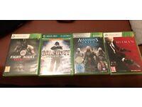 Fight Night Champion, Assasins Creed 1 2 brotherhood 3 and 4 Call of Duty Word at War and Hitman