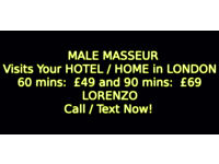Full body MASSAGE byYOUNG MALE Masseur.OUTCALL to HOTEL/HOME in London