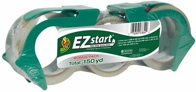 Duck Brand Ez Start Packaging Tape 1.88 Inches X 150 Yards Clear 3 Pack 1079097