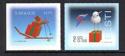 ESTONIA MNH 2008 SG587-588 CHRISTMAS