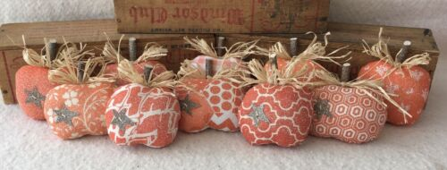 Primitive Ornies Orange FALL Mini PUMPKINS Bowl Fillers Make Do
