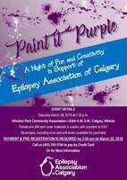 Epilepsy Association of Calgary Fundraising Purple Paint Night