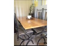Six Seat Dining table and chairs