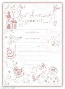 christening invitations ebay