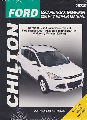 2001-2017 Ford Escape Tribute & Mariner Repair Service Workshop Manual Book 3572