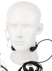 Security Throat Mic Earpiece Headset For HYT Motorola Radio's