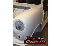 Classic Car Body Work Panel Beating Restoration Service - GingerKye Restorations - Save Your Classic
