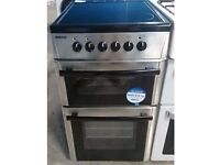 BEKO 50cm STAINLESS STEEL ELECTRIC COOKER , CHROME DESIGN, 4 MONTHS WARRANTY
