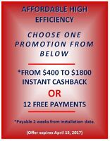 $0 DOWN RENT TO OWN PROGRAM, FURNACES / AC / TANKLESS HOT WATER