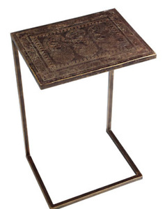Pier 1 Etched Paisley C-Table (like new, mint condition)