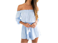 Sky blue playsuit, size 14