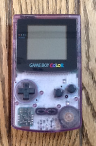 Nintendo Gameboy Color Atomic Purple, with 4 games