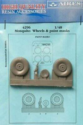 AIRES HOBBY 1/48 MOSQUITO WHEELS PAINT MASK FOR TAM D 4296