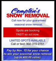Snow removal in Summerside!!  Find out how it could be free!!