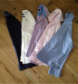 5 Boys Suit Shirts! Ages 9 , 10 and 11.